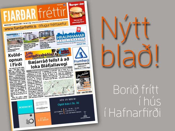 Mynd af forsíðu Fjarðarfrétta